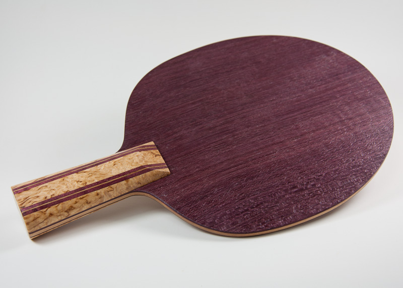 Blade: Purpleheart<p><br />Handle: Masur Birch and Purpleheart